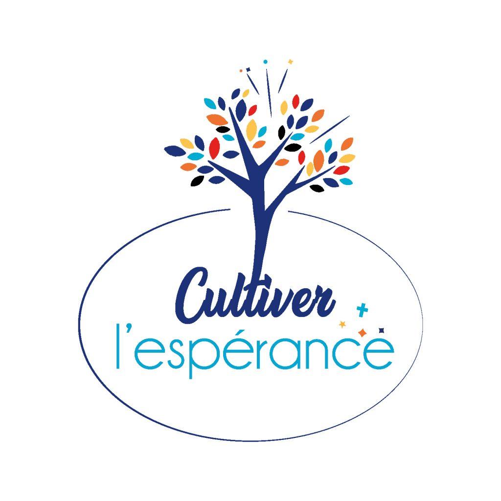 logo cultiver l'espérance avec arbre