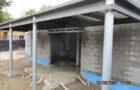 Extension d'école en construction